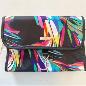 Trina Turk Colorful Rollup Cosmetic Bag